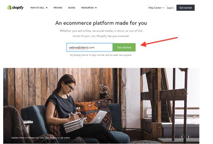 Shopify e-shop